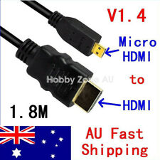 Micro HDMI to HDMI 1.8M Cable V1.4 1080P for Sony HTC Blackberry Motorola Acer
