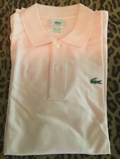 Lacoste Size 7 Pink Mens Polo Nwot