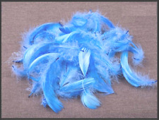 R23//7 Dyed Brown Craft Turkey Feathers For Jewellery Making 120mm Pack of 20