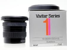 Vivitar Ser 1 19-35mm f3.5-4.5 wide zoom  Minolta /Sony A full frame fine cond.