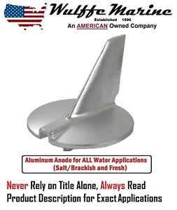 Aluminum Trim Tab Fin Anode Yamaha 200 225 250 300 HP 61A-45371-00-00