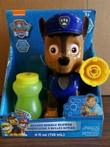 Nickelodeon Paw Patrol Action Bubble Blower Chase Ages 3 & Up, Damaged/open box