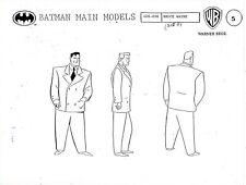 Batman: The Animated Series Studio Copy Bruce Wayne Model Sheet Page Bruce Timm