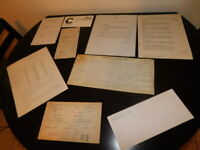 train documents lot 39 pieces chesapeake ohio chessie system antique vintage
