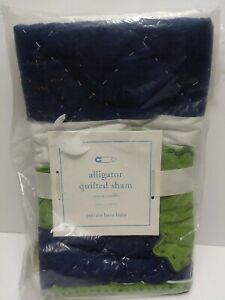 POTTERY BARN KIDS Alligator QUILTED SHAM SMALL