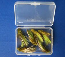 6 PCS of  Olive Muddler Minnow Trout Flies fly fishing #10 With Free Box D286