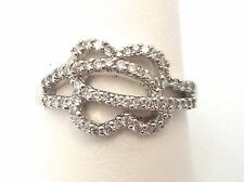 18K White Gold Round Diamond Right Hand Ring