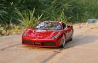 1:24 Bburago Ferrari 488 GTB  Diecast Alloy Car Model Men Gift Static Display