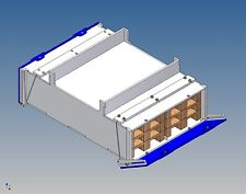 Pb130v palettenstaubox (full) for Carson Trailer - 130/120 L X 46 H x 180 B