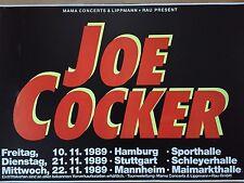 JOE COCKER 1989 TOUR  orig.Concert Poster--Plakat  A1 USED
