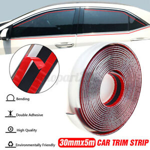 30mmx5m Chrome Car Molding Trim Door Body Side Roof Decorate Strip Protector