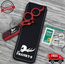 Spider Steel Handle Straight Edge Barber Razor Folding Shaving Knife &10 Blade