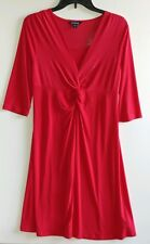 EUC George Slinky Red Empire waist Dress Size 0-2, 95% Polyester