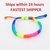 LGBTQ Rainbow Bracelet Gay Pride - SHOW YOUR PRIDE - SHIPS WITHIN 24 HOURS