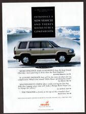 1993 ISUZU Trooper Vintage Original Print AD - Gray car photo Mountain canada