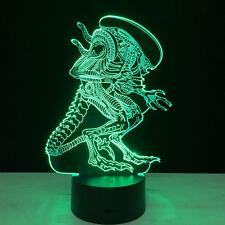 3D Nuit Lumière Lampe Acrylique Alien Xenomorph Film Table Cadeau Décoration