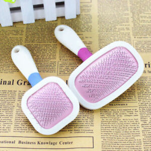 Small Pet Dog Puppy Grooming Hair Brush Massage Comb Plastic Handle Metal Wire