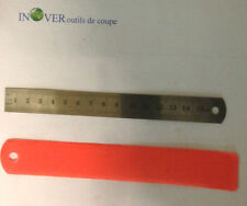 REGLET RIGIDE INOX TOP QUALITE DOUBLE FACE LONGEUR 150mmX19mm epaisseur 0.7mm.