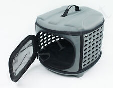 Small Pet Dog Cat Puppy Kitten Carrier Portable Cage Crate Transporter Grey 482