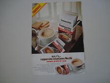 advertising Pubblicità 1977 CAPPUCCINO NESTLE'