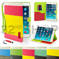 Leather Wallet Flip Stand Case Smart Cover for For Apple iPad Mini Screen Film