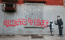 QUALITY BANKSY ART IN NEW YORK PHOTO PRINT (GHETTO 4 LIFE)