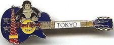 Hard Rock Cafe TOKYO 1990's KING KONG & TOWER on Blue LES PAUL GUITAR PIN #9983