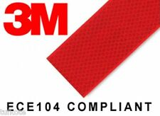 3M High Intensity Reflective Conspicuity Tape, RED, 2 Inch Width x 2 Feet