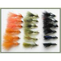 18 x MINI Gold head Flash Damsels, Size 12, Fishing flies,Damsels, Trout Flies,