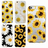 Flower Case Soft Phone Sunflower Samsung iPhone 7 7+ 6S 6Plus 8 X XR XS Edge A8