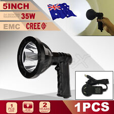 """NEW 5"""" 35W CREE LED RECHARGEABLE HANDHELD SPOTLIGHT CAMPING HUNTING SHOOTING"""