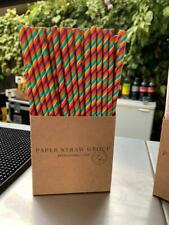 More details for rainbow paper drinking straws - party straws  - uk made 100% biodegradable - eco