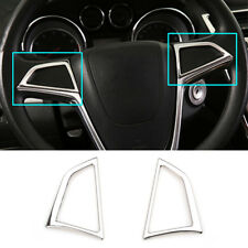 For Buick Encore Mokka X 2013-18 Chrome Steering Wheel Switch Button Cover Trim