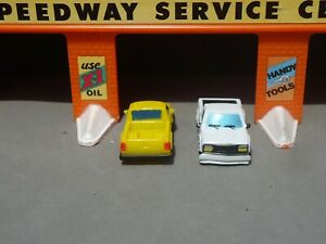 Micro Machines Chevy full sized pickup in white and yellow