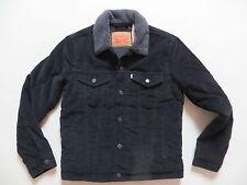 Levi's Jeans Jacke, Cordjacke mit grauem Fell gefüttert Gr. S schwarz ! NEU !  !