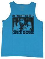 Chuck Norris Mens My Favorite Color Is Chuck Norris Tank Shirt New L