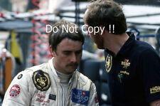 Nigel Mansell & Steve Hallam LOTUS F1 Portrait Grand Prix de Monaco 1982 PHOTOGRAPHIE