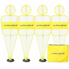 ALPHA Gear 4Pk of Defensive Mannequin Bodies - with 2 Piece Turf Base Poles