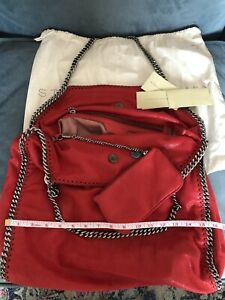 Stella Mccartney Falabella Extra Large Red With Interior Purse AUTHENTIC