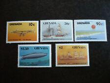 Stamps - Grenada - Transportation Partial Set - Scott# 1516-1524