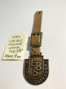 """Vintage 1970s Link Belt Speeder Watch Fob 39mm X 41mm 5 1/4"""""""