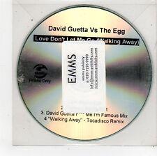 (FU559) David Guetta vs The Egg, Love Don't Let Me Go - DJ CD