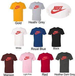 Nike Men's Short Sleeve  Metal Flake Red Logo Printed T-Shirt