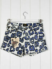 Animal Print Hot Pants Mid Rise Shorts for Women