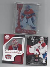 "CAREY PRICE  JERSEY AND SPECIALTY CARD ""LOT A"""