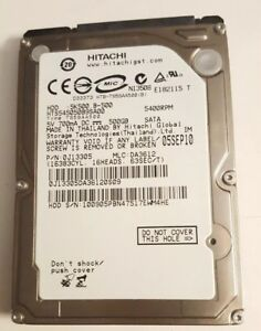 Hitachi 500GB SATA 2.5 HDD 5400RPM HTS545050B9SA00 PN 0J13305 MLC DA3612