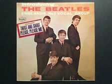 INTRODUCING THE BEATLES VJ LP WITH RARE SONG STICKER VEE JAY
