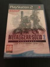 Metal Gear Solid 2 Substance PS2 Play Station 2 Pal ESPAÑOL NUEVO