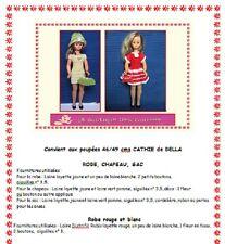 Fiche patron N° 101 vêtements tricot  pour poupée Cathy de Bella 46/48cms