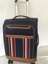 $325 Tommy Hilfiger Hartford 21' Carry On Luggage Suitcase Blue Spinner